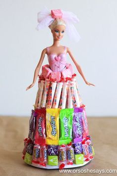 DIY Candy Doll- So fun and easy and the kids will LOVE it.