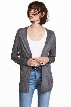 Cardigan tricotat fin - Gri - FEMEI | H&M RO 1