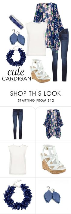 """""""Cute Cardigans"""" by lunalovegood78 ❤ liked on Polyvore featuring DL1961 Premium Denim, Finders Keepers, GUESS, Dsquared2, cutecardigan and springlayers"""