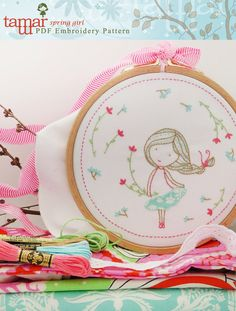 Digital design Embroidery pattern Printable art by TamarNahirYanai