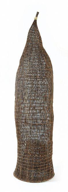 Fish trap woven from jungle vine
