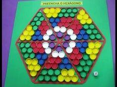 Mostramos nesse vídeo como as ciranças podem brincar de preencher um hexágono…
