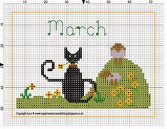 Happiness is Cross Stitching : Mini Cat Cross Stitch Freebies … Cat Cross Stitches, Cross Stitch Samplers, Cross Stitch Charts, Cross Stitching, Cross Stitch Embroidery, Embroidery Patterns, Cross Stitch Patterns, Loom Patterns, Hand Embroidery