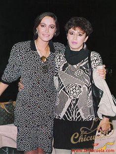 """Esta foto fue tomada hace muchos años cuando la entrevisté en Monterrey N.L. siempre la he admirado y siempre le estaré agradecida ya que cuando tuvo su programa """"Hoy con Daniela"""" me hizo el honor de invitarme como co conductora cuando tenía invitados gruperos."""