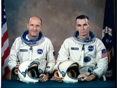 NASA Gemini Missions - Gemini 9, Thomas P. Stafford (left) Commander, Eugene A. Cernan (right), Pilot