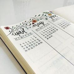 marleneloveslife: new future log for april, may and june in my bullet journal! apparently floral doodles are essential