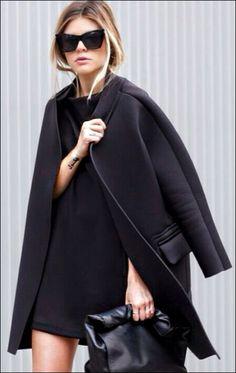 stylizacje z czarna sukienka