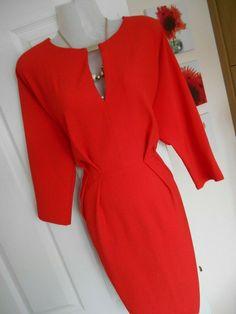 5f05e62787 STUNNING RIVER ISLAND SIZE 14 ORANGEY RED WIGGLE DRESS FAST POSTAGE  #fashion #clothing #