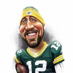 TOONPOOL Cartoons - Caricatures by rocksaw, tagged caricatures - Category Famous People - rated / Caricature From Photo, Caricature Artist, Caricature Drawing, Nfl Football Teams, Packers Football, Sports Jerseys, Nfl Sports, Green Packers, Nfl Green Bay