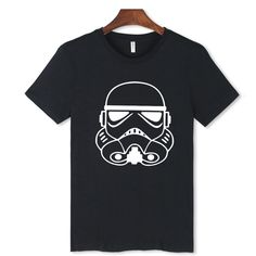 Print Star Wars Soldiers Short Sleeve White Tshirt Black Casual Soft Cotton T Shirt Men O Neck Fashion Summer Tee Shirt Men #Affiliate