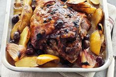 Greek-style slow-roasted lamb. This looks like a great recipe!