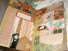 So many ideas...pockets, snippets of paper....ephemera......