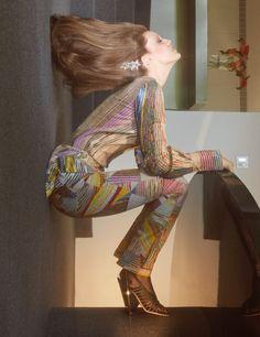 Emily DiDonato wears printed top and pants