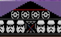Star Wars fair isle knitting chart
