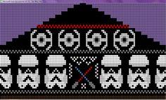 Star Wars fair isle knitting chart