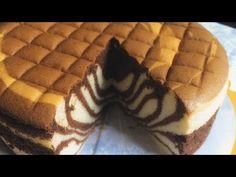 ★ Easy Sponge The Cake Recipe Torta Zebra, Zebra Cakes, Japanese Cotton Cheesecake, Ogura Cake, Milk Bread Recipe, Resep Cake, Egg Cake, Ice Cream Candy, Sponge Cake Recipes