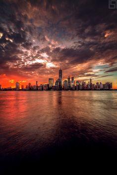 Impresionante imagen del Bajo Manhattan