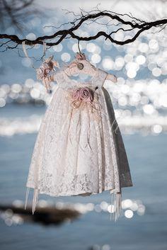 Φόρεμα βάπτισης Vinte Li 2817 με ασορτί κορδέλα., annassecret,