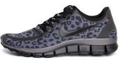 Blue cheetah Nikes