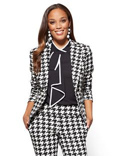 b2fab1090e4e Shop 7th Avenue Jacket - One-Button - Modern - Houndstooth . Find your  perfect