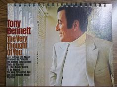 Recycled Notebook From Tony Bennett Record