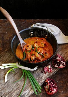 Shrimp Curry with Pomegranate and Coconut Milk