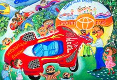 'Eco-Pocket Car' by Shao-Hsuan Pi, Aged 10-12 y.o., Taiwan: 3rd Contest, Silver #KidsArt #ToyotaDreamCar