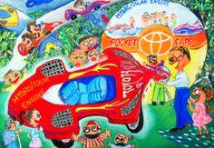'Eco-Pocket Car' by Shao-Hsuan Pi, Aged 10-12 y.o., Taiwan: 3rd Contest, Silver #KidsArt #ToyotaDreamCar