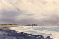 Llanddwyn Beach, an original watercolour painting by Rob Piercy