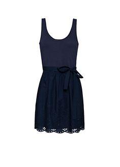 MANGO - Flared embroidery dress
