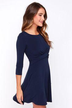 Shake it Off Navy Blue Dress at Lulus.com!