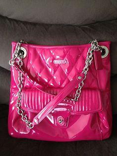 Coach Poppy Liquid Gloss Slim Tote in Pink my favorite purse I own