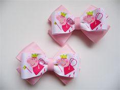 Hair Clips Set (x2) - Peppa Pig Bows