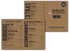 Burgers off Broadway Menu