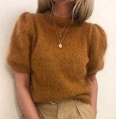 Mohair Yarn, Mohair Sweater, Knitting Kits, Knitting Patterns, Crochet Patterns, Pull Court, Plus Zise, Ravelry, Knit Crochet