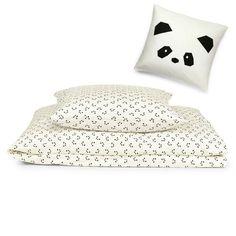 Sengesett Panda Little Princess, Panda, Sunglasses Case, Bed Pillows, Pillow Cases, Barn, Collection, Interior, Pillows