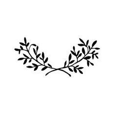 laurel stamp. Logo inspiration