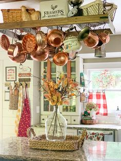 Farmhouse kitchen with fall decor - homemade sink skirt, napkin curtains, farmhouse sink Fall Kitchen Decor, Farmhouse Kitchen Decor, Shabby Chic Kitchen, Shabby Chic Homes, Shabby Chic Decor, Kitchen Ideas, Vintage Farmhouse Decor, Farmhouse Sinks, Cottage Farmhouse