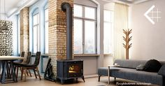 PIECYK ŻELIWNY NA DREWNO KOMINEK KOZA K9 +DOLOT - 4571075823 - oficjalne archiwum allegro Living Room Interior, Living Room Decor, Interior Livingroom, Stove, Home Appliances, Inspiration, Furniture, Home Decor, Fireplaces