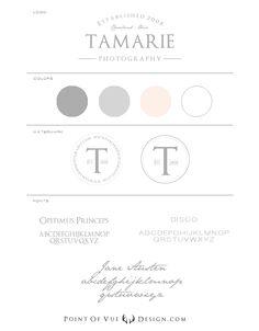 TK-Logo-Board. Branding Board. Point of Vue Design. Photography Branding. Tamarie Photography
