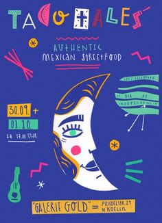 #papercut #flyer #poster #mexico #annewenkel #illustratiion