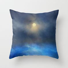 Blue water melody Throw Pillow by Viviana González - $20.00