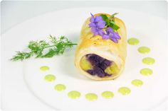 Crispy flounder with mashed harlequin and watercress sauce