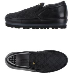 Lara Hampton Sneakers ($75) ❤ liked on Polyvore featuring shoes, sneakers, black, wedge trainers, wedge heel shoes, quilted sneakers, wedge shoes and leather shoes