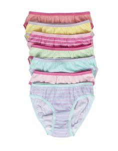 Cotton Bikinis: 7-pack