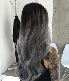 ombre-haare-modern-graue-haarfarbe-brünett