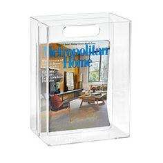 Magazine holder for the bathroom...Mike's corner of heaven