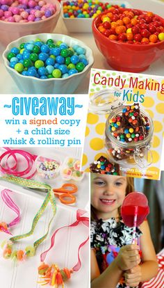 Candy Making For Kids book from Courtney Dial Whitmore of @Pizzazzerie ~ fun, creative and easy ideas to get you in the kitchen with your kids!