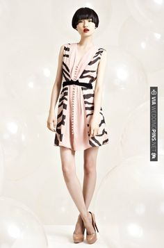 Erin Fetherston Resort 2012, fabulous little dress, black stripe, nude | CHECK OUT MORE IDEAS AT WEDDINGPINS.NET | #weddingfashion