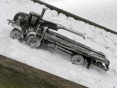 Truck Metal Sculpture Yard Art Garden Art by rustaboutcreations, $324.99